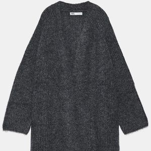 Zara Gray Knit Cardigan